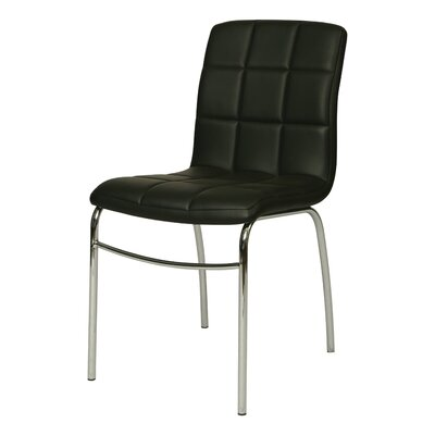 Fleming Side Chair Upholstery: Black