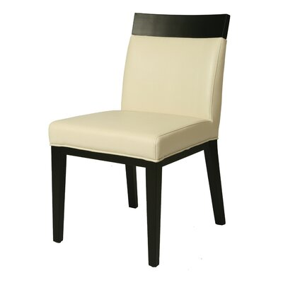 Elloise Parsons Chair Upholstery: White
