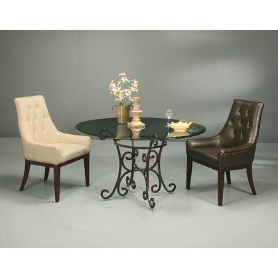 Firouzeh Linen Khaki Fabric Arm Chair
