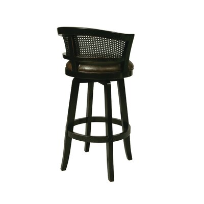 Grand Palace 30 Swivel Bar Stool Finish: Weather Black with Stallion Burnt Seat