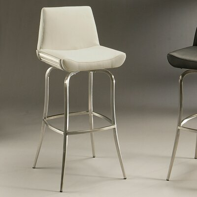 Degorah 26 Swivel Bar Stool Upholstery: Ivory