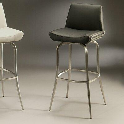 Degorah 26 Swivel Bar Stool Upholstery: Black