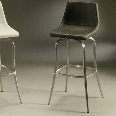 Diamond 26 Swivel Bar Stool Upholstery: Black