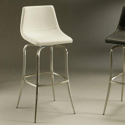 Diamond 26 Swivel Bar Stool Upholstery: Ivory