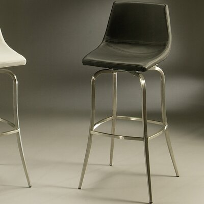 Diamond 30 Swivel Bar Stool Upholstery: Black