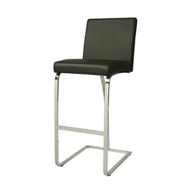 Monaco Bar Stool Seat Height: 30, Upholstery: Black