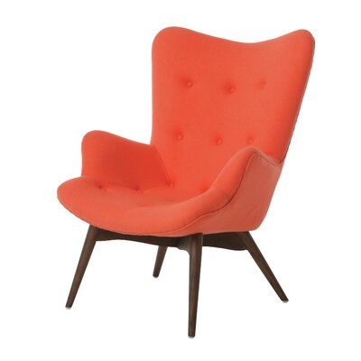 Gelsenkirchen Lounge Chair Color: Fabric - Orange