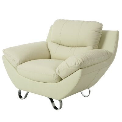 Mableton Lounge Chair Color: Ivory