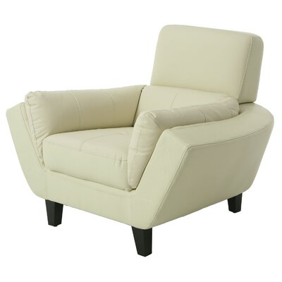 New Zealand Armchair Color: Ivory