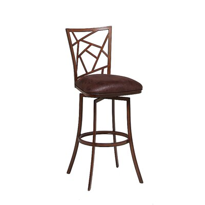 Homestead 31.25 inch Swivel Bar Stool Finish: Phantom, Upholstery: Melvin Chocolate