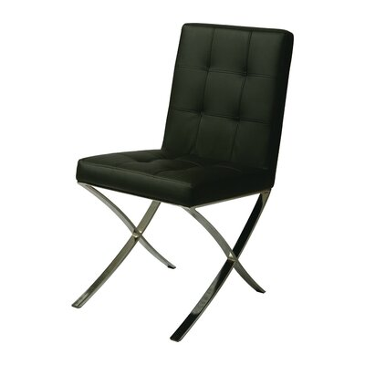 Aria Side Chair Upholstery: Black
