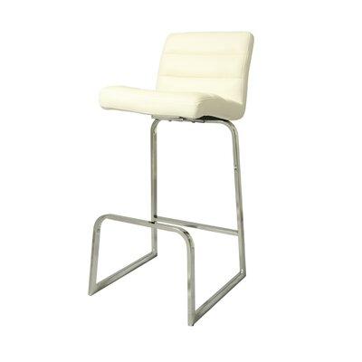 Zetta 26 Bar Stool Upholstery: Ivory