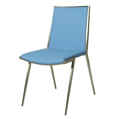 Roxanne Side Chair Upholstery: Light Blue