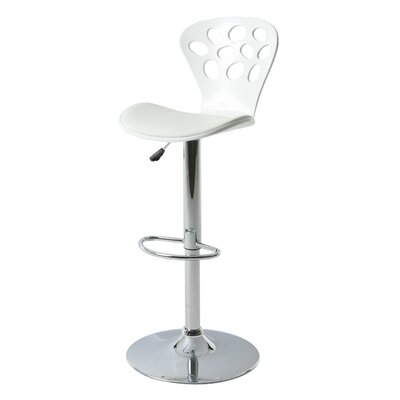 Pixie Hydraulic Adjustable Height Swivel Bar Stool Color: Ivory
