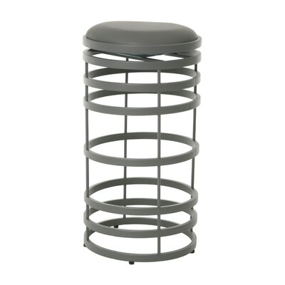 Graffton 30 Swivel Bar Stool Base Finish: BG Matte Gray, Upholstery: Gray