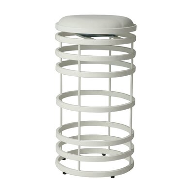 Graffton 26 Swivel Bar Stool Base Finish: SF Matte White, Upholstery: Ivory