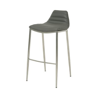 Grand Plaza 30 Bar Stool Base Finish: Stainless Steel