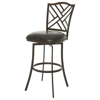 Milazzo 26 Swivel Bar Stool Upholstery: Coffee Brown/Melvin Chocolate