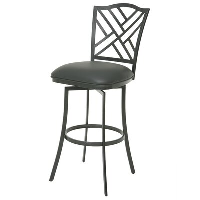 Milazzo 26 Swivel Bar Stool Upholstery: SF Matte Gray/Gray