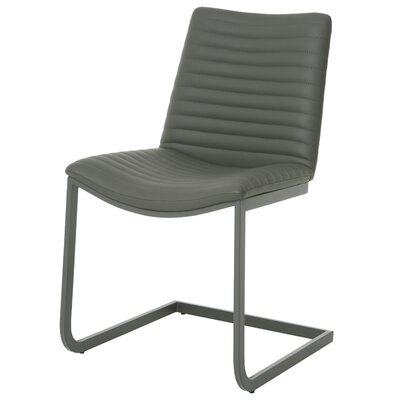 Emma Upholstered Dining Chair Finish: BG Matte Gray, Upholstery: Gray