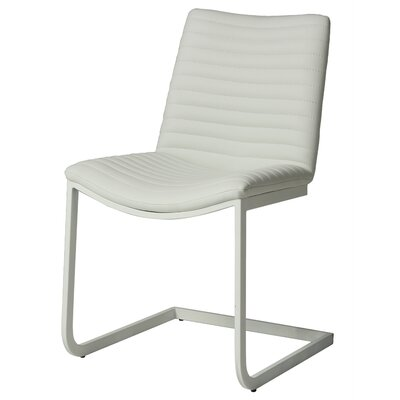 Emma Upholstered Dining Chair Finish: SF Matte White, Upholstery: Ivory