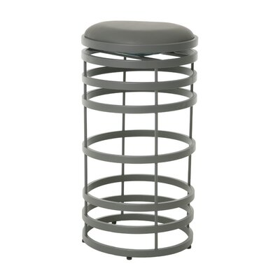 Graffton 30 Swivel Bar Stool Upholstery: Gray, Base Finish: Stainless Steel