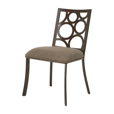 Villa Metro Side Chair Finish: Coffee Brown, Upholstery: Brown Linen