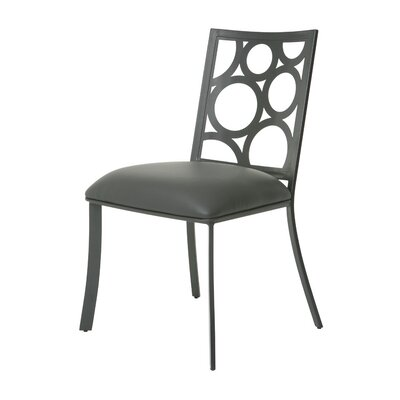 Villa Metro Side Chair Finish: SF Matte Gray, Upholstery: Gray