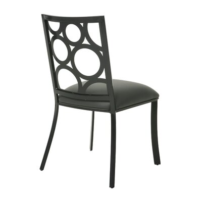 Villa Metro Side Chair Finish: SF Matte Black, Upholstery: Gray