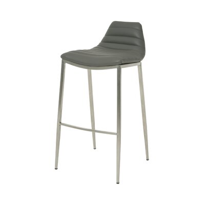 Grand Plaza 30 inch Bar Stool Base Finish: Stainless Steel