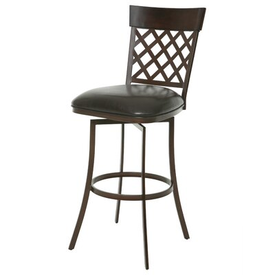 Valley Falls 26 Swivel Bar Stool Upholstery: Melvin Chocolate