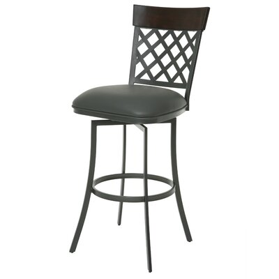 Valley Falls 30 Swivel Bar Stool Upholstery: SF Matte Gray/Gray