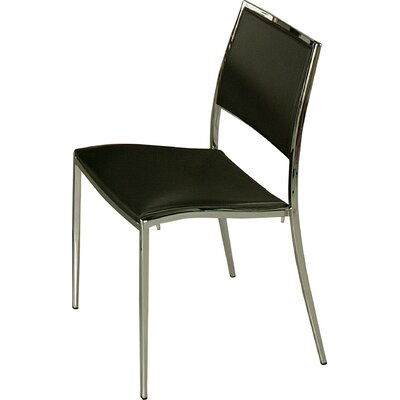 Omni Side Chair Side Chair Upholstery: Black