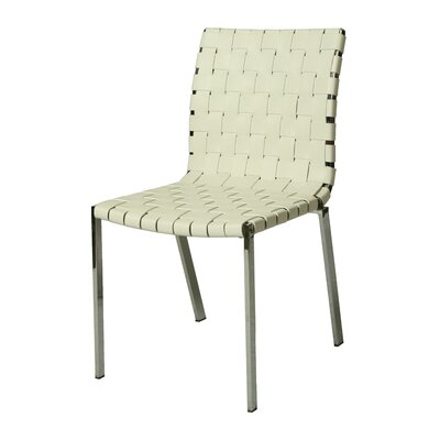 Helmsley Upholstered Dining Chair Upholstery Color: White