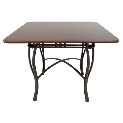 Alton Pub Table Color: Bronze Autumn Rust/Brown Buckskin, Size: 37 H x 48 W x 48 D