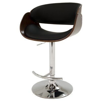 Kaffina Adjustable Height Swivel Bar Stool