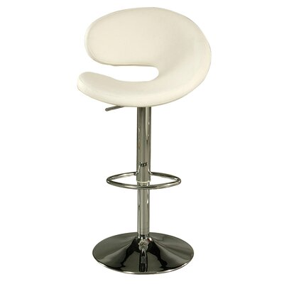 Gilbraltar Adjustable Height Swivel Bar Stool Upholstery: Ivory