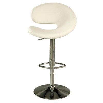 Gilbraltar Adjustable Height Swivel Bar Stool Upholstery: Ivory