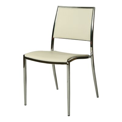 Omni Side Chair Side Chair Upholstery: White