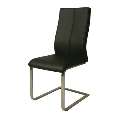 Olander Side Chair Upholstery: Black