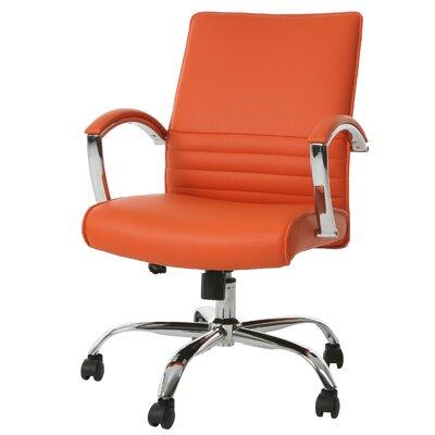 Saylor Office Chair Color: Orange