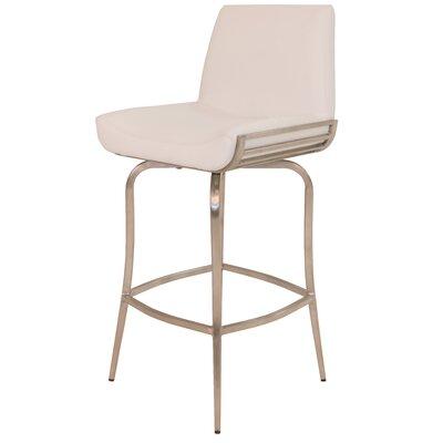 Degorah 26 Swivel Bar Stool Upholstery: Ivory