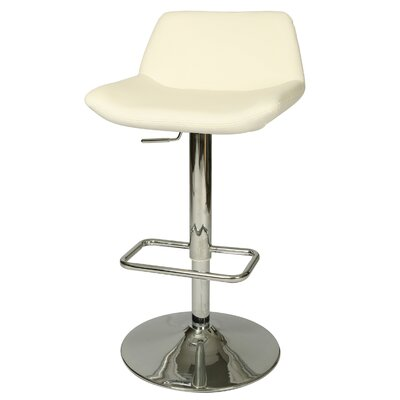 Los Cabos Adjustable Height Swivel Bar Stool Upholstery: Ivory