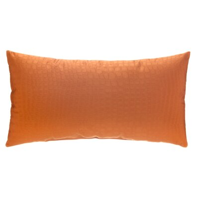 Croc Lumbar Pillow Color: Orange