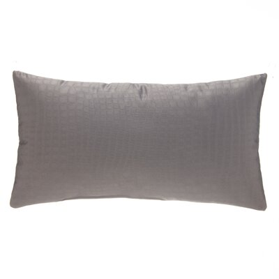 Croc Lumbar Pillow Color: Gray