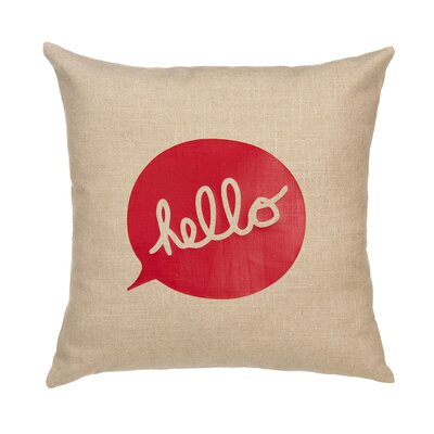 Hello Linen Throw Pillow