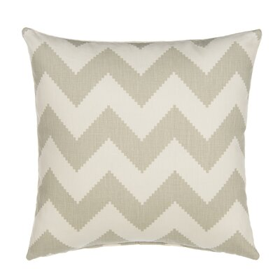 Chevron Velvet Throw Pillow Color: Dove Gray