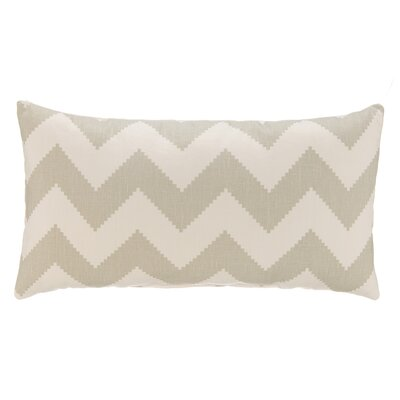Chevron Velvet Lumbar Pillow Color: Dove Gray