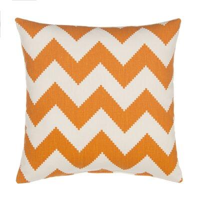Chevron Velvet Throw Pillow Cover Color: Tangerine