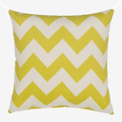 Chevron Velvet Throw Pillow Color: Citron Green
